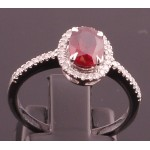 18 ct White Gold Ruby and Diamond Ring