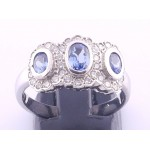 18ct Saphire and Diamond three stone ring SOLD