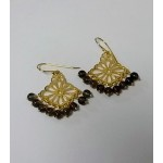 Filigree Design Earrings with Beads