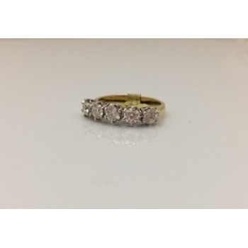 18ct White Gold Diamond 5 stone Ring