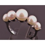 5 stone freshwater pearl ring SOLD