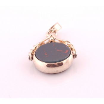 9ct Rose Gold Carnelian & Bloodstone Spinner SOLD!