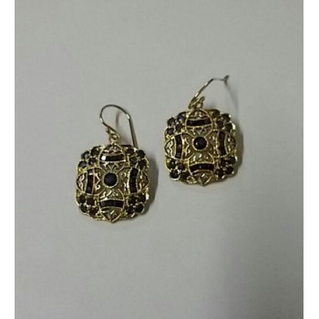 9ct Gold and Sapphire Filigree Earrings SOLD