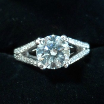 18 ct white gold diamond Solitaire ring SOLD