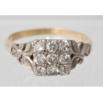 18ct Diamond Ring C1920 Antique