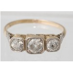 18ct Diamond Three Stone Ring C1920 Antique SOLD