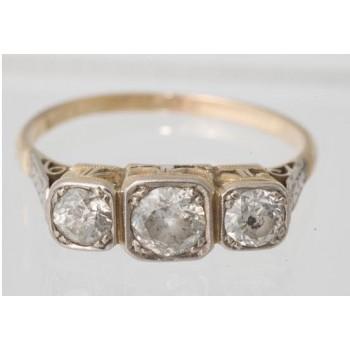 18ct Diamond Three Stone Ring C1920 Antique SOLD