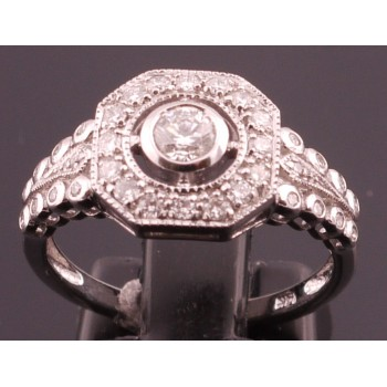 18ct White Gold Diamond Ring SOLD
