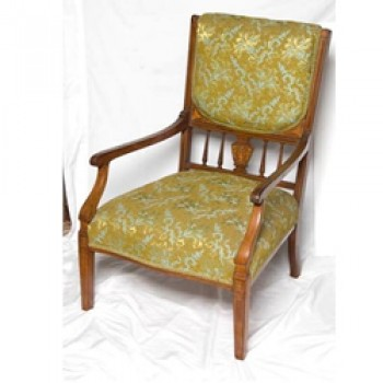 Walnut Inlaid Parlour Chair