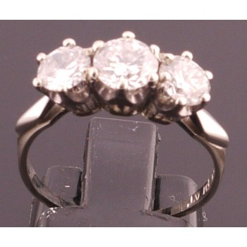 Estate 3 Stone Diamond Ring 1.44CT Total