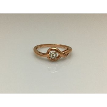Delicate Rose Gold and Diamond Ring