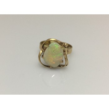 18ct White Opal in Abstract Setting