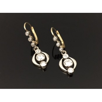 Antique Edwardian Style 18ct Diamond Drop Earrings