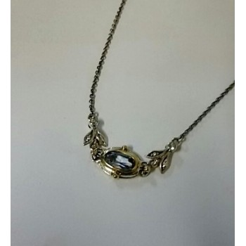 Silver and Topaz Necklet