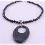 Onyx and Marcasite Necklace