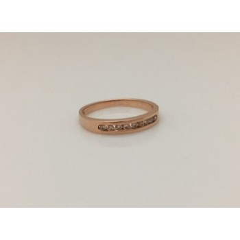 Rose Gold and Diamond Set Band