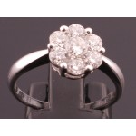 18ct Diamond Cluster Classical 1ct Ring SOLD